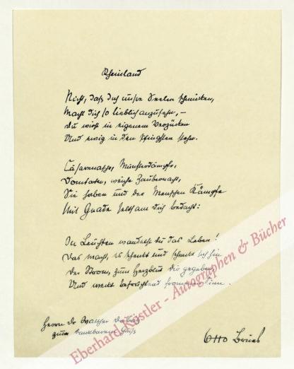 Brües, Otto, Schriftsteller (1897-1967).