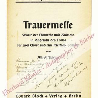Thieme, Alfred, Schriftsteller (1899-1954).