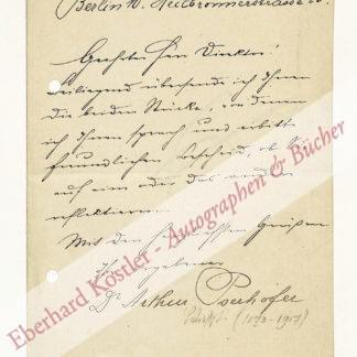 Pserhofer, Arthur, Schriftsteller (1873-1907).