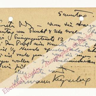 Keyserling, Hermann Graf, Schriftsteller und Philosoph (1880-1946).