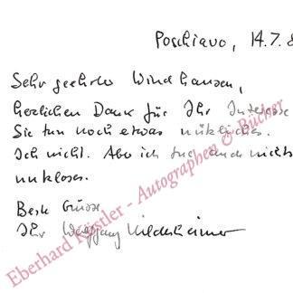 Hildesheimer, Wolfgang, Schriftsteller und Maler (1916-1991).