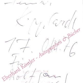 Kipphardt, Heinar, Schriftsteller (1922-1982).