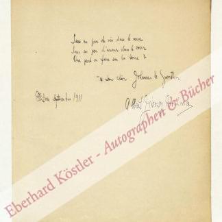 Jarosy, Albert, Komponist und Violinist (1883-?).