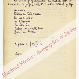 Guenther, Johannes von, Schriftsteller und Übersetzer (1886-1973).