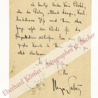 Salus, Hugo, Schriftsteller, Freund Rilkes (1866-1929).
