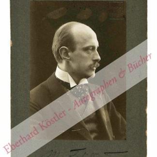 Schillings, Max von, Komponist (1868-1933).