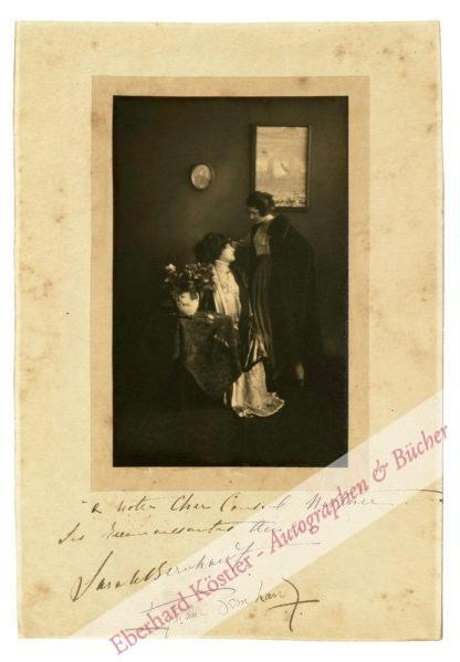 Bernhardt, Sarah, Schauspielerin (1844-1923).