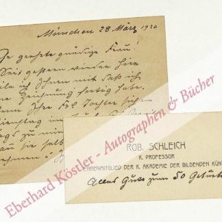 Schleich, Robert, Maler (1845-1934).