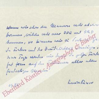 Rinser, Luise, Schriftstellerin (1911-2002).