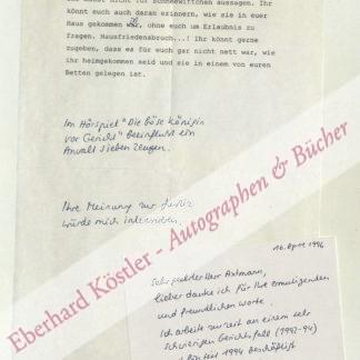 Schriftstellerinnen -  Schwaiger, Brigitte, Schriftstellerin (1949-2010).
