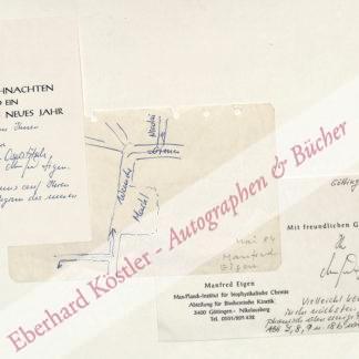 Eigen, Manfred, Physiker und Nobelpreisträger (geb. 1927).