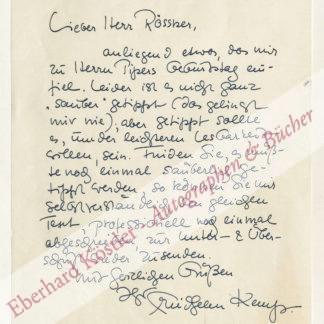 Kemp, Friedhelm, Schriftsteller (1914-2011).