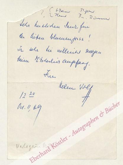 Wolff, Helen, Verlegeerin (1906-1994).