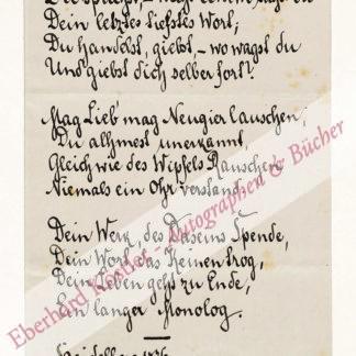 Oertzen, Georg von (Pseud. Ludwig Robert), Schriftsteller (1829-1910).