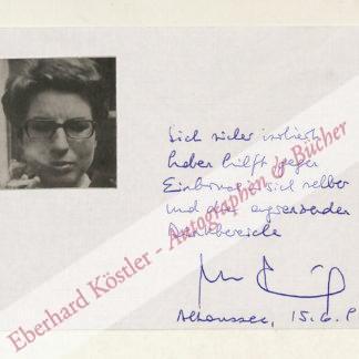 Frischmuth, Barbara, Schriftstellerin (geb. 1941).