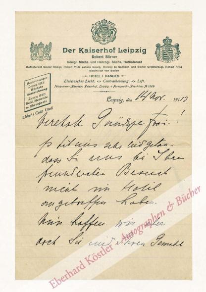 Wohlbrück, Olga, Schriftstellerin und Schauspielerin (1867-1933).