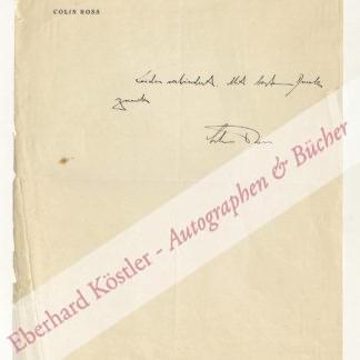 Ross, Colin, Schriftsteller und Reisender (1885-1945).