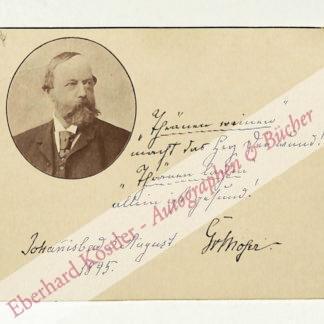 Moser, Gustav von, Schriftsteller (1825-1903).