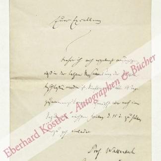 Wattenbach, Wilhelm, Historiker und Archivar (1819-1897).