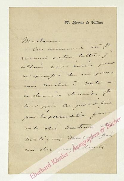 Dumas (fils), Alexandre, Schriftsteller (1824-1895).