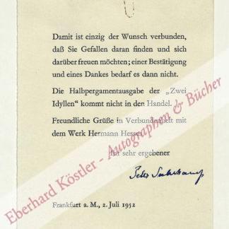 Suhrkamp, Peter, Verleger (1891-1959).