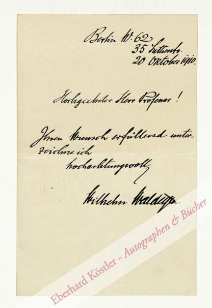 Waldeyer-Hartz, Wilhelm von, Anatom (1836-1921).