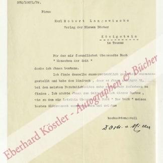 """Miller, Oskar von, Elektroingenieur und Gründer des """"Deutschen Museums"""" (1855-1934)."""