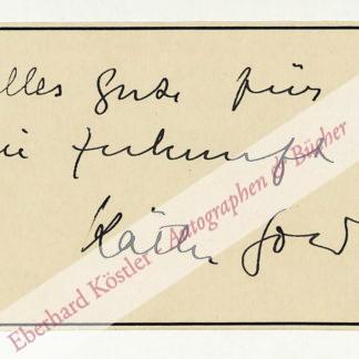 Gold, Käthe, Schauspielerin (1907-1997).