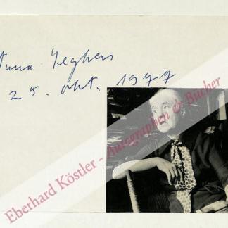 Seghers, Anna, Schriftstellerin (1900-1983).