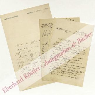 Goetheforscher -  Koenig, Robert, Schriftsteller (1828-1900).