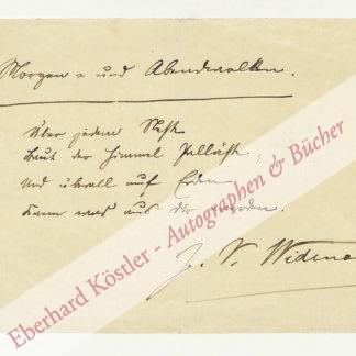 Widmann, Joseph Victor, Schriftsteller (1842-1911).
