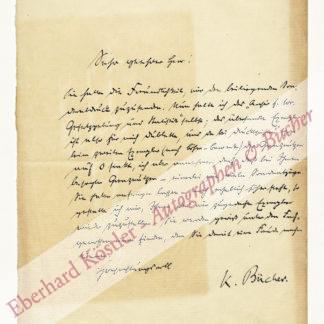 Bücher, Karl, Nationalökonom, Hauptvertreter der entwicklungstheoretischen Schule (1847-1930).