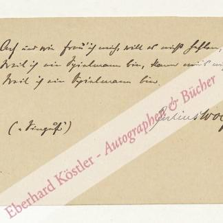 Wolff, Julius, Schriftsteller (1834-1910).