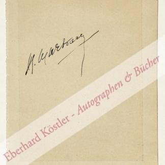 Marteau, Henri, Geiger und Komponist (1874-1934).