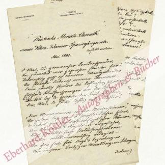 Bormann, Edwin (Pseud. Bliemchen), Schriftsteller und Dialektdichter (1851-1912).