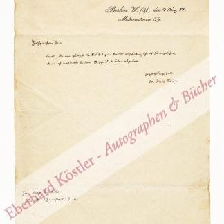 Frenzel, Karl, Schriftsteller und Theaterkritiker (1827-1914).