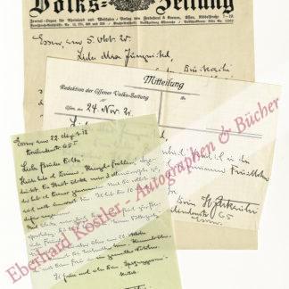 Zerkaulen, Heinrich, Schriftsteller (1892-1954).