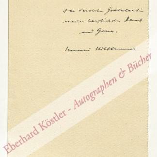 Hiltbrunner, Hermann, Schriftsteller (1893-1961).