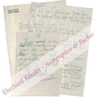 Kopelew, Lew, russ. Schriftsteller (1912-1997).