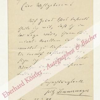 Lemmermayer, Fritz, Schriftsteller (1857-1932).