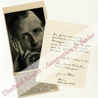 Pohl, Gerhart, Schriftsteller (1902-1966).