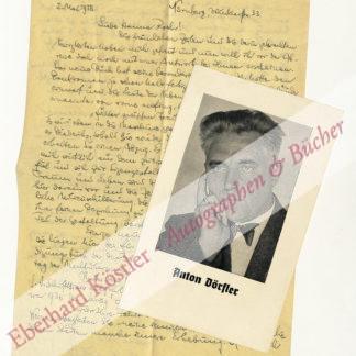 Dörfler, Anton, Schriftsteller (1890-1981).