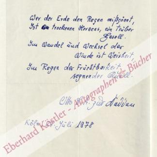 Nedden, Otto Carl August zur, Schriftsteller und Musikforscher (1902-1994).
