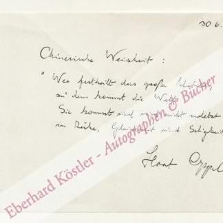 Oppel, Horst, Schriftsteller (1913-1982).