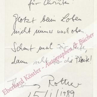 Rother, Thomas, Schriftsteller (geb. 1937).
