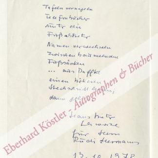 Schwarze, Hans Dieter, Schriftsteller (1926-1994).