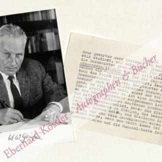 Geißler, Horst Wolfram, Schriftsteller (1893-1983).