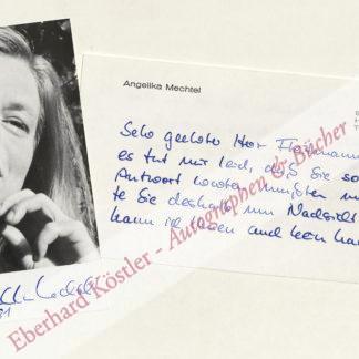 Mechtel, Angelika, Schriftstellerin (1943-2000).
