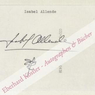Allende, Isabel, Schriftstellerin (geb. 1942).