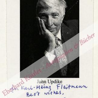 Updike, John, Schriftsteller (1932-2009).